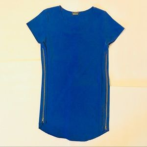 Papermoon for Stitch Fix blue zipper tunic